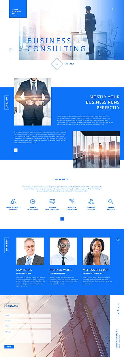 Template 58071 - Corporational Inc  Responsive Website Template