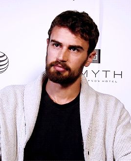 theo james shockingly adorable with a beard. carry on pretty boy.