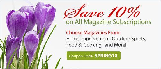 Magazine Subscriptions - Discount Magazines on 1500+ Magazines
