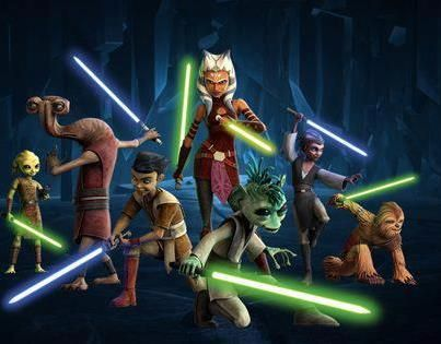 Ahsoka With  Jedi Younglings