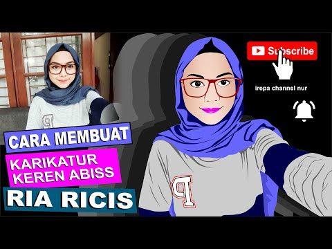 Cara Menggambar Karikatur Ria Ricis Di Coreldraw Youtube Kartun Cara Menggambar Gambar