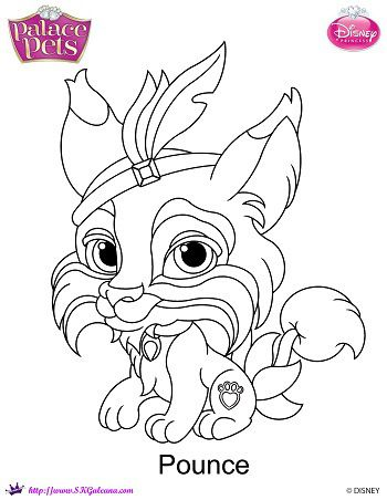 Disney Princess Palace Pet Pounce Coloring Page