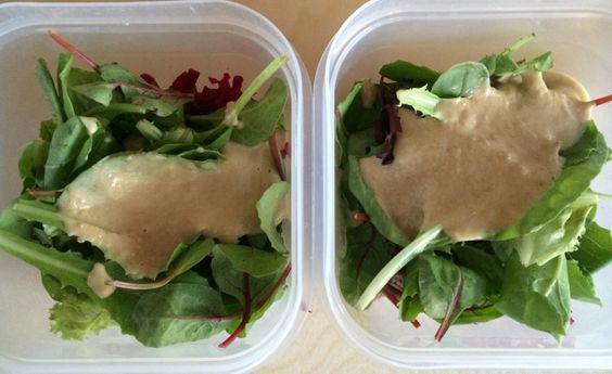 Vegan Tahini Miso sauce for salads and whole grain bowls