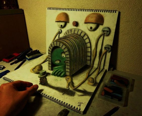Incredible 3D Paintings, In A Hobbyist Notebook