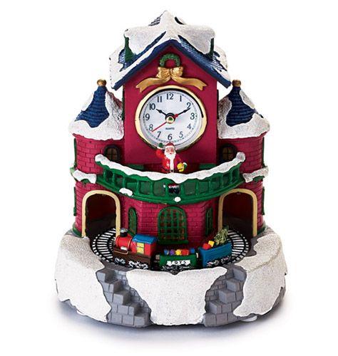 Santas Workshop, Christmas Clock And Avon On Pinterest