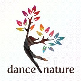 dance nature logo template
