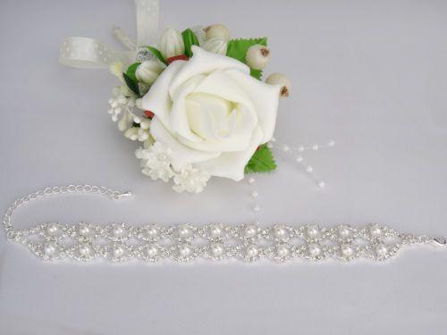 Armband-Strass-Perlen-Silber-Brautschmuck-Hochzeit