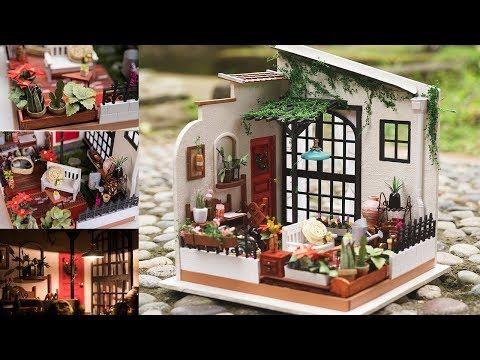 Diy Miniature Dollhouse Garden With Working Light Miller S