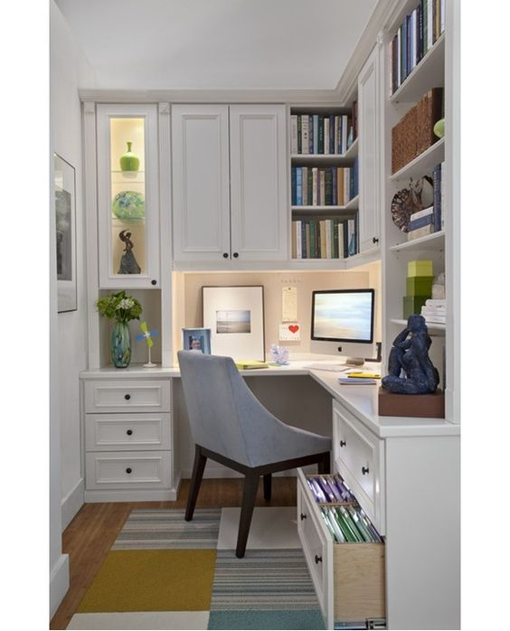 Creating a home office  that is functional enough for telecommuting while still fitting in with the rest of your home design can be tricky. Whether you are going to set up your office yourself or hire a professional to do the job, you'll want to keep a few things in mind.
