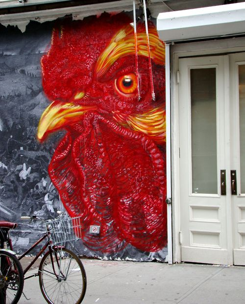 Kitchen Art Nyc: Chicken Grafitti, NYC. This Would Look Awesome On A Fence
