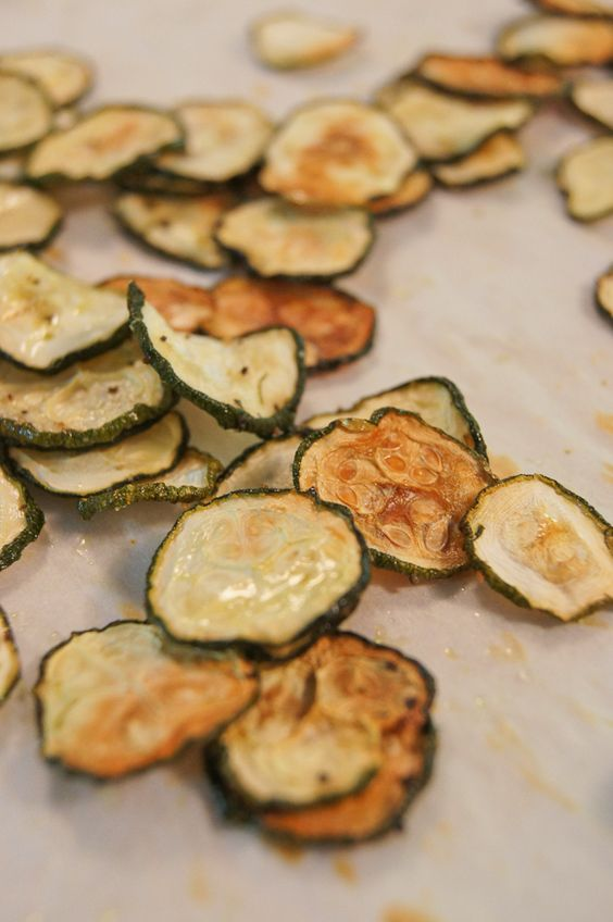 Baked Zucchini Chips - Can you do the same thing to a cucumber? I got tons of cucumbers...