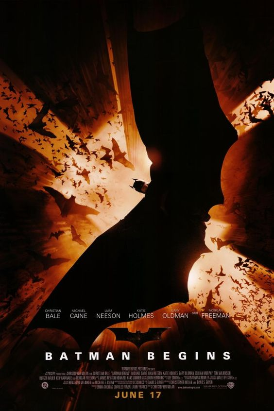 Batman Begins movie poster in 2005. #batman #typography