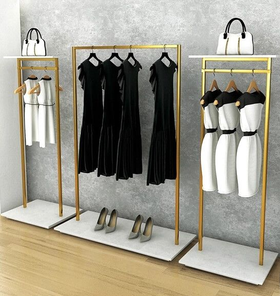 Retail Steel Clothes Racks Steel Clothes Rack Stand Clothing Rack Boutique Clothing Rack Store Design Boutique