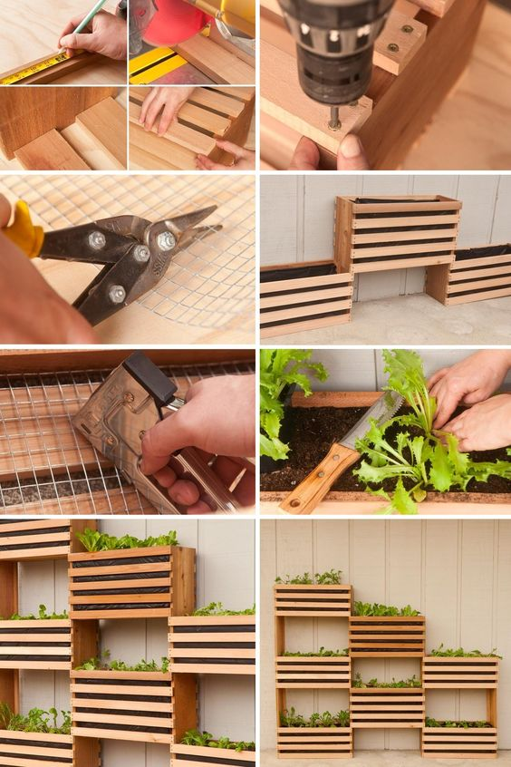 DIY Vertical Vegetable Garden Green DIY: Craft Your Own Vertical Vegetable Garden That Takes up Little Space