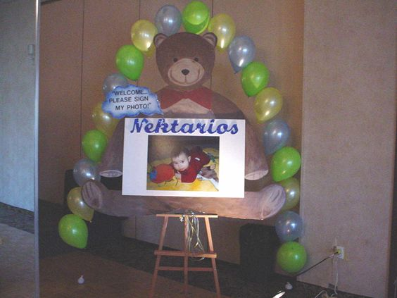 Teddy bear backdrop prop.