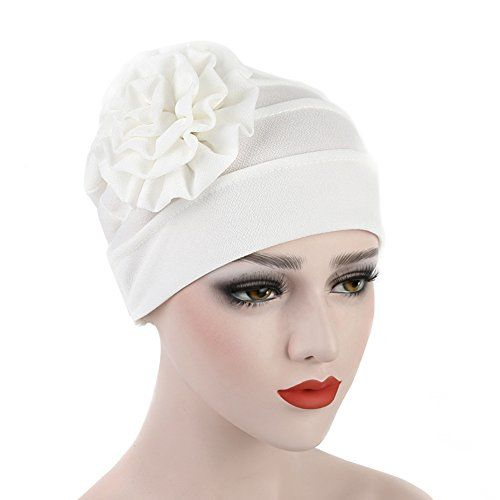 2Pcs Women/'s Muslim Chemo Cap Pre Tied Beanie Head Scarf Hat for Hair Loss