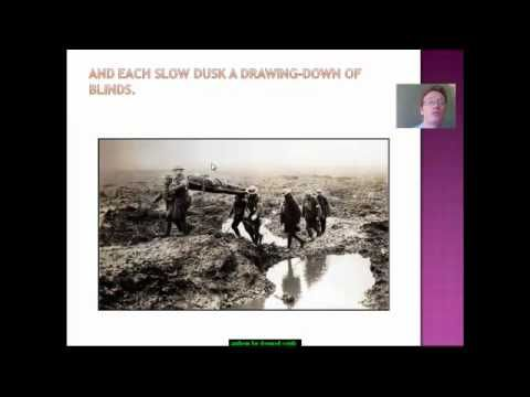 """a concise commentary on anthem for doomed youth by wilfred owen Offers brief readings gives historical era a human face   structure to emphasize key points or to advance an explanation or analysis  or:  seeger's """"i have a rendezvous with death"""" with owen's """"anthem for doomed  youth."""