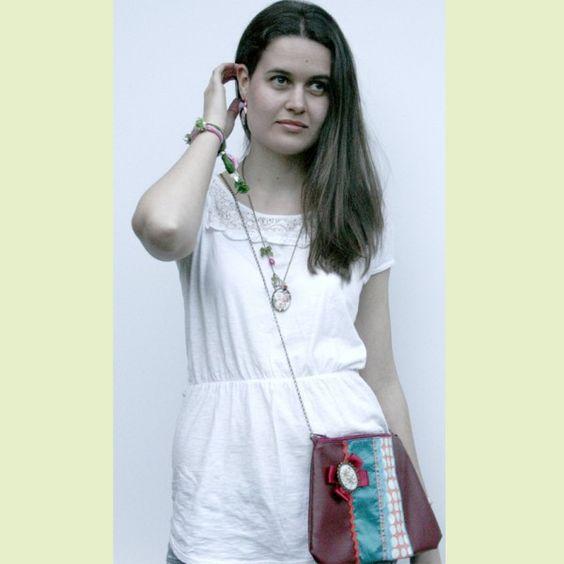 Bolsos originales de tela con gran capacidad apliques de for Zapateros tela para colgar