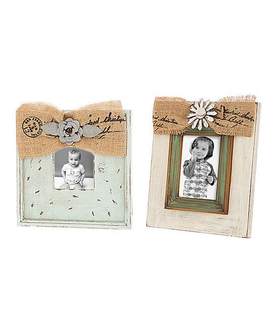 Look at this Antique Bow Frame Set on #zulily today!