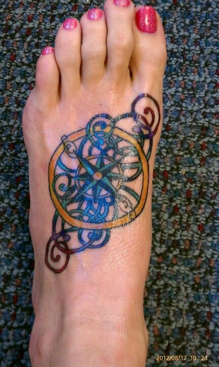 My compass tat