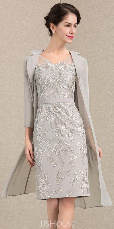 Knielange Lange Brautmutterkleider Online Kleidung Brautmutter Festliche Kleider Hochzeit Mutter Der Braut Kleider