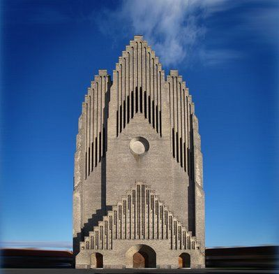 Grundtvig's Church,Copenhagen, Denmark - located in the Bispebjerg district of Copenhagen, Denmark. It is a rare example of expressionist church architecture. Due to its unusual appearance, it is one of the best known churches in the city.