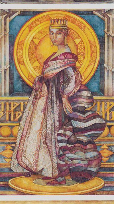 La reine d'écus - Tarot cristal par Elisabetta Trevisan