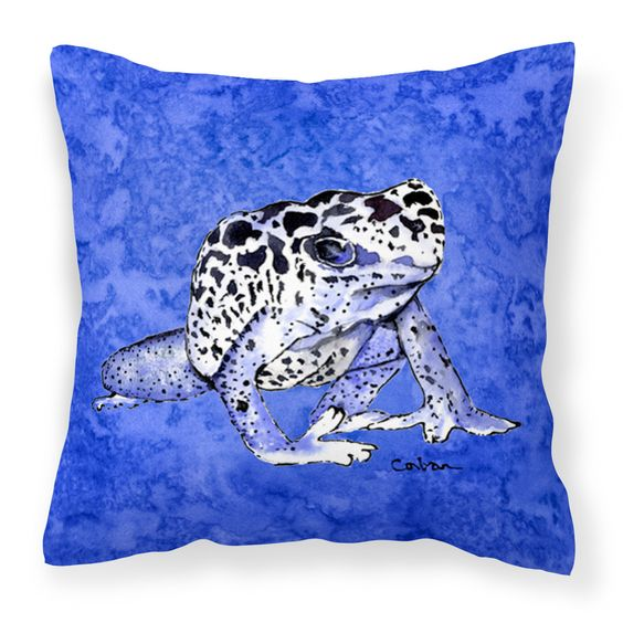 Frog Fabric Decorative Pillow 8687PW1414