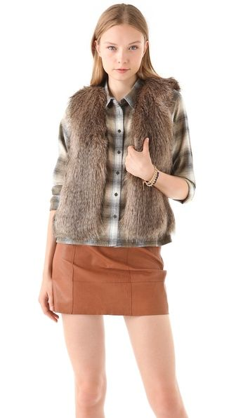 Faux Fur Vest: Cannot decide how much I love this look yet. What do ya'll think?