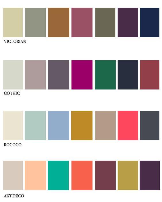 color palettes victorian and art deco on pinterest. Black Bedroom Furniture Sets. Home Design Ideas