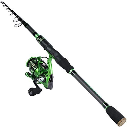 Sougayilang Spinning Fishing Rod Reelcombos With Telescopic Fishing Pole And Spinning Reel For Freshwater Bass Fishing 1 Fishing Pole Rod And Reel Bass Fishing