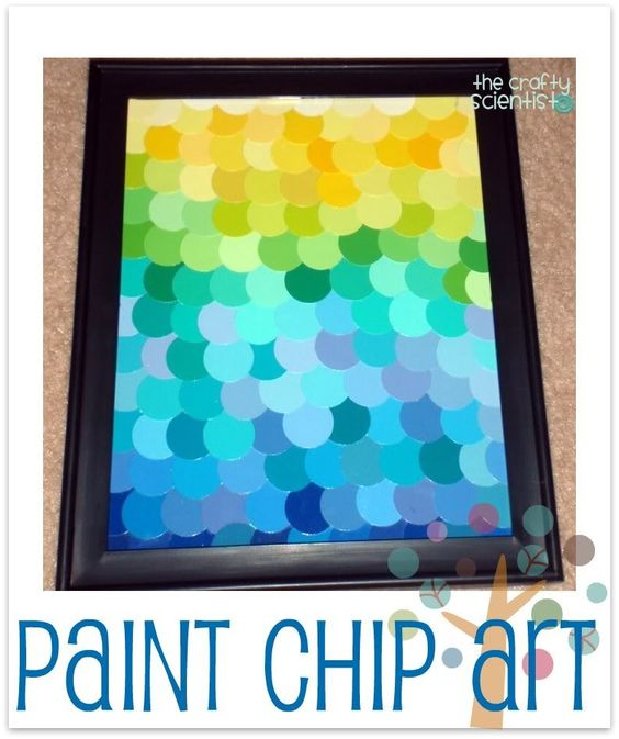 Cheap paint chip art from the Crafty Scientist.