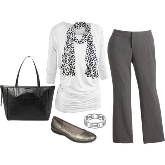 Plus Size Career Outfit by jmc6115 on Polyvore featuring Sag Harbor, LifeStride and Napier