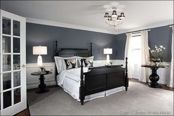 This monochromatic bedroom by Sarah Richardson is fantastic