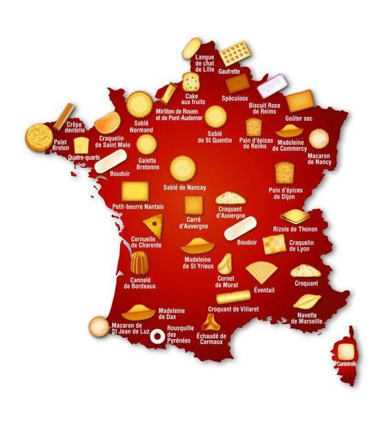 Gâteaux Biscuits, Biscuits Gateaux, Les Patisseries, Fromages, Mignardises, Petits Gateaux, Douceurs, Cuisiner, France Carte