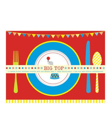 This Big Top Paper Place Mat - Set of 12 by Party Partners is perfect! #zulilyfinds