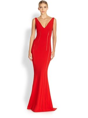 Sleeveless Jersey Gown $3745.0 by leann