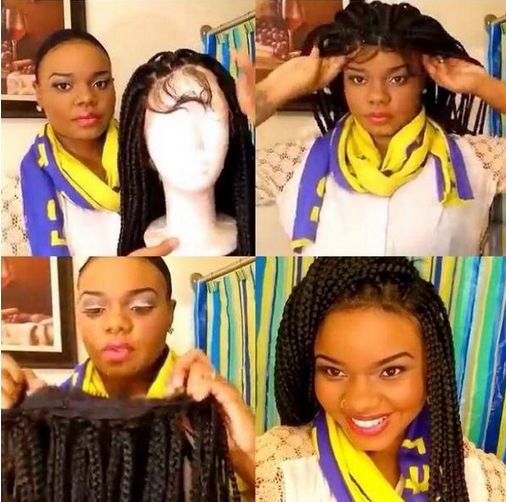 Fabulous Box Braids Hairstyles Box Braids And Wigs On Pinterest Short Hairstyles For Black Women Fulllsitofus