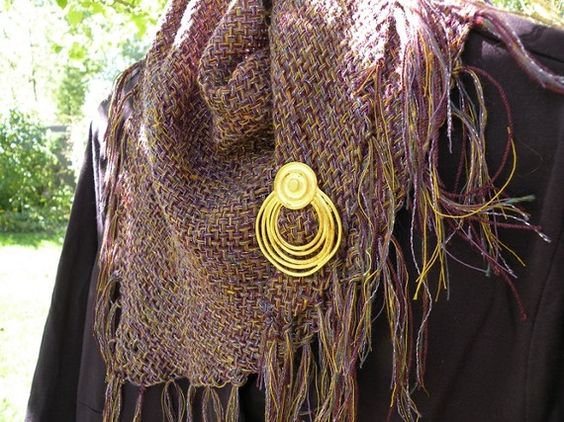 Purplocity ~ purple lightweight wool, cotton, sparkly handwoven triangle fashion women's scarf/shawl/wrap.  Life's An Expedition ~ DJ Runnels ~ Beautiful!