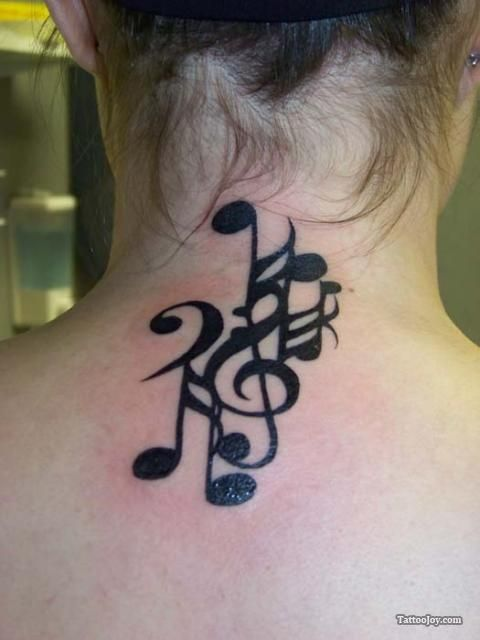 Pictures Of Music Note Tattoos On Neck Rock Cafe
