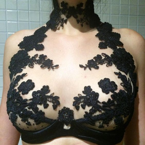 """""""Words cannot express how much I love this bra. I'm honestly having trouble coming up with a caption here besides """"I want this."""" By new designer…"""""""