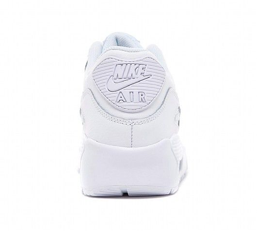 nike junior air max 90 white leather sneaker