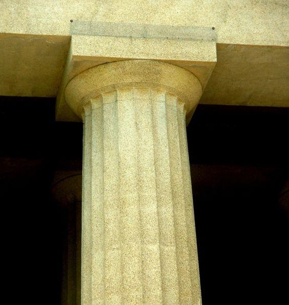 Doric column in their original greek version doric for Doric columns
