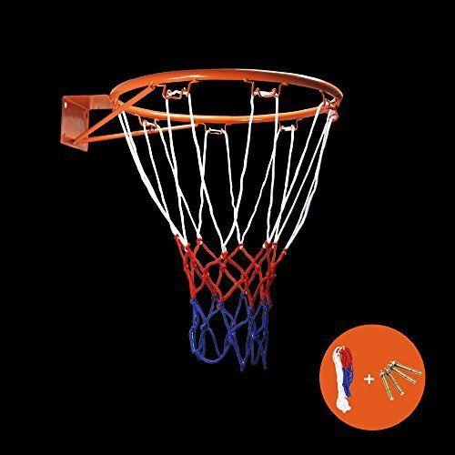 Zuiniubi Collapsible Wall Mounted Hanging Basketball Goal Hoop Rim Metal Netting 32cm 12 6 Metal Net Basketball Goals Basketball Rim