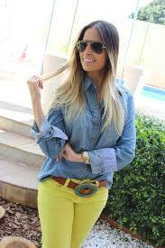 look camisa jeans - Pesquisa Google