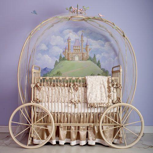 Are you kidding me with this?? Sooooo cute!!!!   Princess Coach Iron Crib: Nursery Idea, Prince, Baby Girl, Baby Room, Fairytale