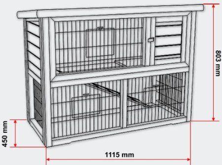 cabane grand espace deux tages pour petits rongeurs cage lapins jardin. Black Bedroom Furniture Sets. Home Design Ideas