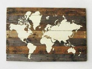 Wereldkaart Op Pallet Hout...iets origineels