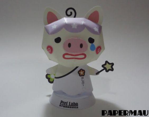 PAPERMAU: I Built Hoshibu - Kagoshima Prefecture Mascot Paper Toy - by Greboo