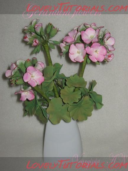 Geranium flower making tutorial
